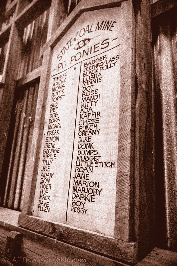 Pit Ponies Roll of Honour