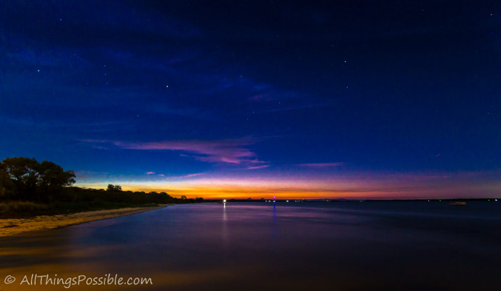 Sunset and Starry Sky
